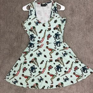 Sourpuss clothing vintage swimmers print dress